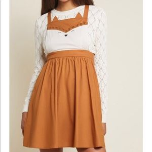 NEW Modcloth Forever And Clever Fox Skirt Jumper